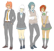 MS: Middleschool AU Uniforms by onedayfour