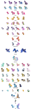 My Little Pony Series Sprites Version 3 by Kevfin