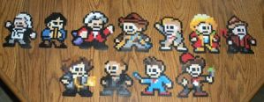 Doctor Who 8-bit ornaments by furrychaos