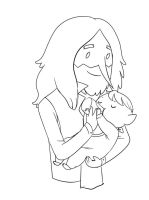 Simon and Baby Marcy by Snowflake-owl