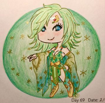 Day 69: Green Beauty by LaPetitLapearl