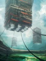 Floating cities of Belugan by Tryingtofly