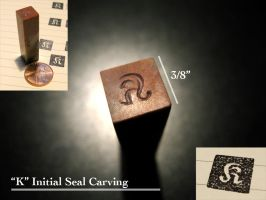 K Seal Carving by cow41087