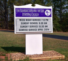 Resurrection and the Life Episcopal Church Sign by MrAngryDog
