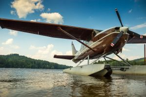 Lake Plane by philipbrunner