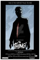 the thing poster FLAT by feverish002