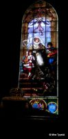 Church stained glass window by mityrose