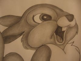 Thumper drawing- Head shot by sazmullium