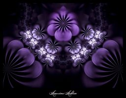 Purple Pansies by AmorinaAshton