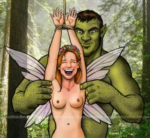 The Ogre and the Fairy by achillesheelart