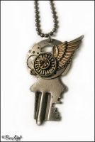 Steampunk Key Pendant by BaziKotek