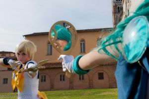 Sailor Neptune and Sailor Uranus by azka-cosplay