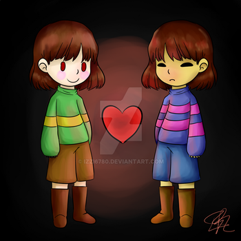 Frisk And Chara by izzi6780