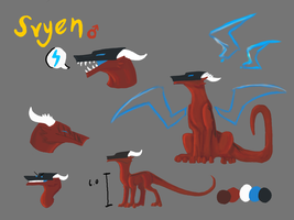 Svyen reference sheet by OokamiMonster