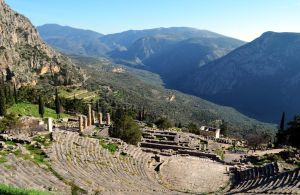 The theater of Delphi by BubbleCloud