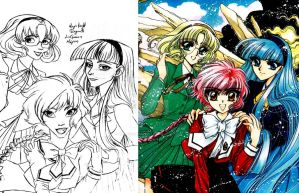 Magic Knight Rayearth Comparative by DemonCartoonist