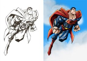 Superman lines n colour by TruZe