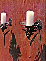 Acanthus Leaf wall sconces by ou8nrtist2