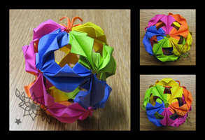 Arabesque Kusudama by mnemosynestar