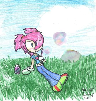 Blowing Bubbles one Summer Day by Hapo57
