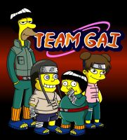 Naruto Simpsons - Team Gai by lloydvdw