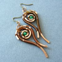 Aganippe earrings by szaranagayama
