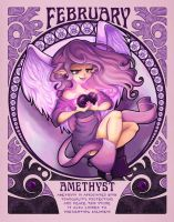 Birthstones Nouveau - February by cute-loot