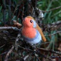 Needle Felted Robin by Sofakitty
