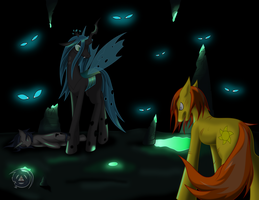 Facing the Queen of Changelings by ErinKarsath
