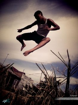 The Awesome jump my brother by Hamano09