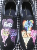The Mane 6  MLP Custom Shoes by Acrylicolt