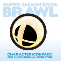 SSBB Character Icon Pack by AadmM