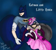 Batman and little Robin by kiramaru7