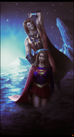 Nuclear Man X Super Girl by BAKART