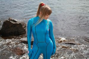 Samus at the Beach I by EnchantedCupcake