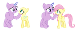 MLP Base- Meeting Fluttershy by alari1234-Bases