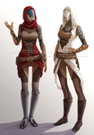 Quarian sisters by nominee84