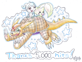 Thanks 5000 Hits by vanilla-dog