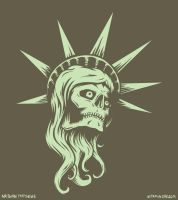 Lady Liberty Skull by vitaminrad
