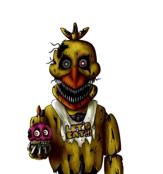 My Part for Collab- Nightmare Chica (+Speedpaint) by Igrisa