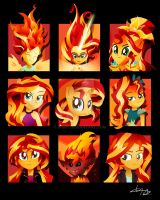 The Many Many Many Many Forms of Sunset Shimmer by Ilona-the-Sinister