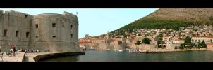 The Entrance To The Old Harbour Of Dubrovnik by skarzynscy