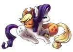 Applejack and Rarity 2 by KatiraMoon