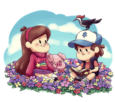 Flower Patch Kids by BlueOrca2000
