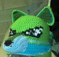 Green Wolf Hat by TinyHatter