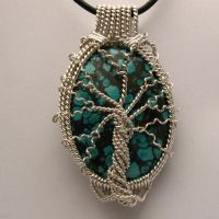 Tree of Life Turquoise Pendant by JandSGems
