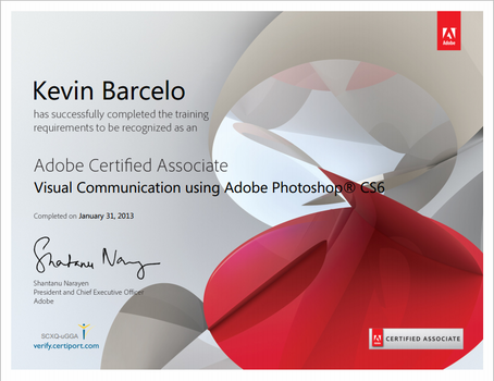 Adobe Certified Associate Certificate by Kevin-Yoshi