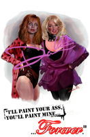 Death Becomes Her Meryl Streep, Goldie Hawn poster by Cordy5by5