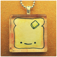 Toast Glass Tile Pendant by cellsdividing