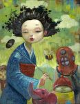 Ms. Fuji and the Mountain by jasinski